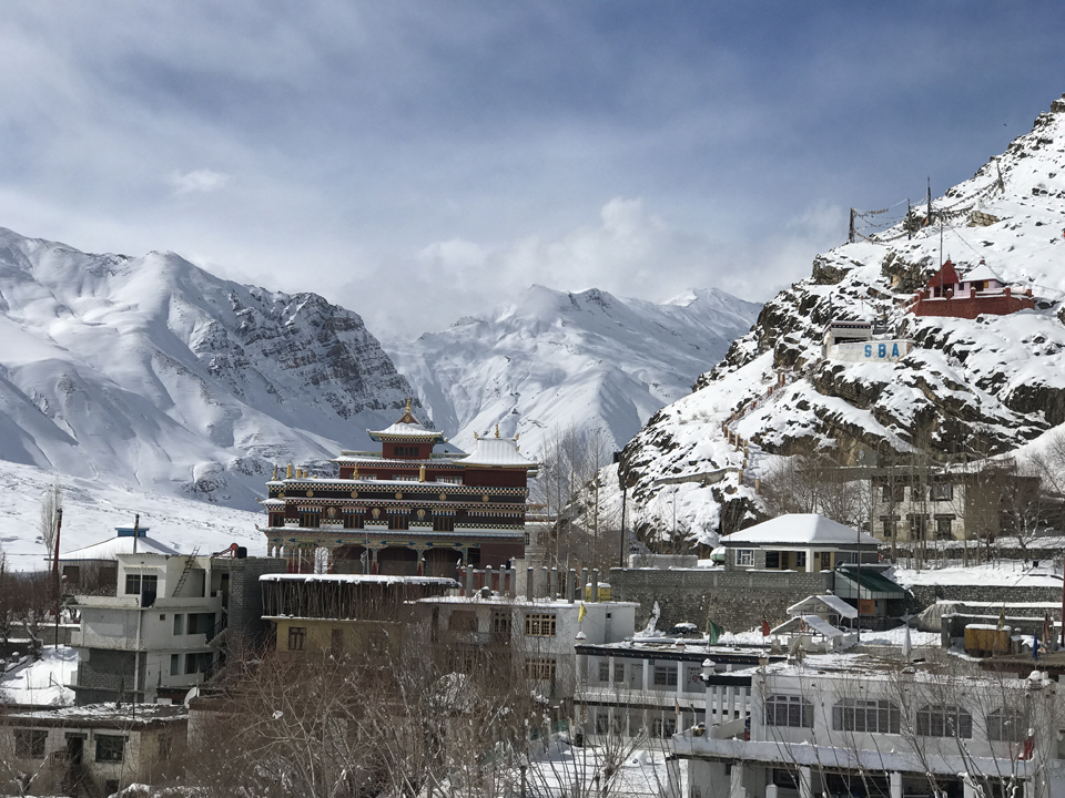 Kaza Monastery, Lahaul and Spiti, Himachal Pradesh, India.