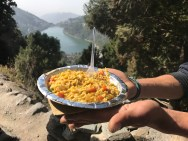 Delicious maggie and the lake in the distance, simply amazing; Photo: Abhinav Kaushal