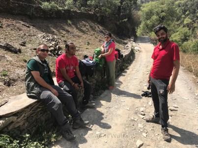 The team excited about reaching Mahrora village, Uttarakhand; Photo: Abhinav Kaushal