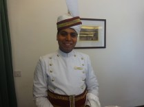 Dhani Ram, a jovial personality, is one of the several seasoned and knowledgeable service staff at The Clarkes Hotel; Photo: sanjay mukherjee