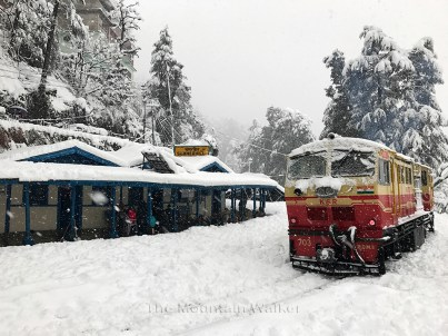 Cruising through the snow at Summerhill Railway Station, Shimla; Photo: Abhinav Kaushal