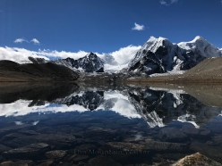 This is an image of Gurudongmar Lake in Sikkim