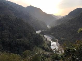 Aandhi Khola river weaving through the Nepal mountains; Photo: Abhinav Kaushal