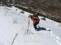 Day 3 - Our guide Akhilesh, marching through the snow; Photo: Abhishek Kaushal