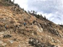 Day 1 - Start of the climb towards Panchmilia; Photo: Swarjit Samajpati