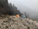 Day 1 - First snowfall of the trek; Photo: Swarjit Samajpati