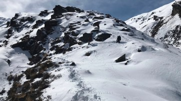 Day 3 - Turning point just before we reach Aadu Top; Photo: Swarjit Samajpati