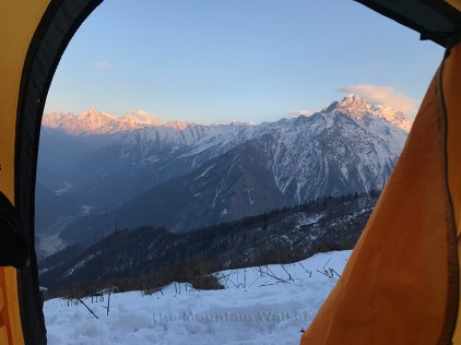 Day 3 - Mesmerising sunset view from the tent at Khadathathra; Photo: Abhishek Kaushal