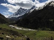 View of Juandhar glacier from Har ki Dun Forest Rest House; Photo: Swarjit Samajpati