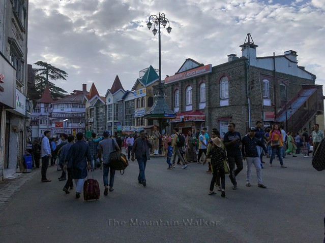 View towards General Post Office (GPO) from Scandal Point in Shimla