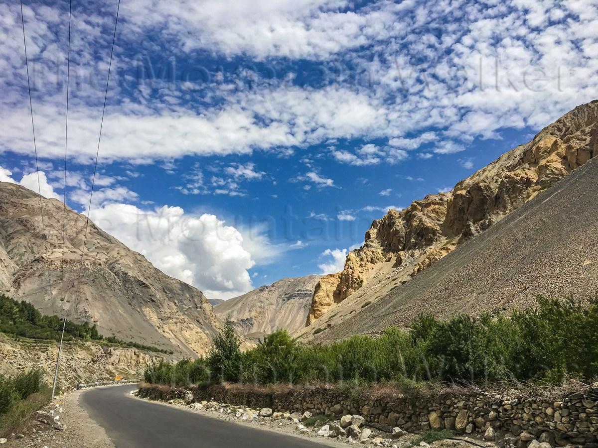 'Hangrang Kinnaur Colourful Road' by Sanjay Mukherjee captures the natural beauty of the tarmac road near Chango in Hangrang Valley of Kinnaur district.