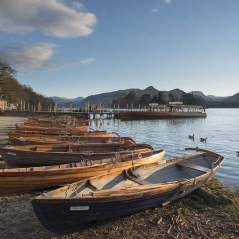 Derwent Water launch and rowing boats