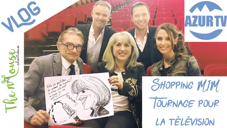 TheMouse sur YouTube: VLOG: shopping MIM et tournage pour AzurTV