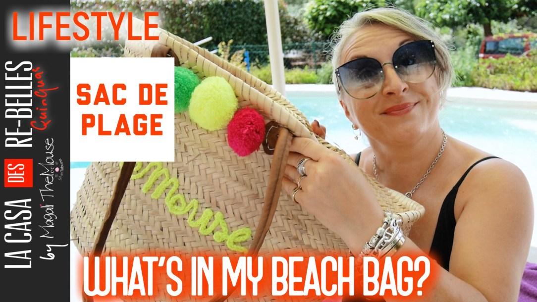 Magali TheMouse, 50 ans, quinqua, maillot de bain, protection solaire, sac de plage