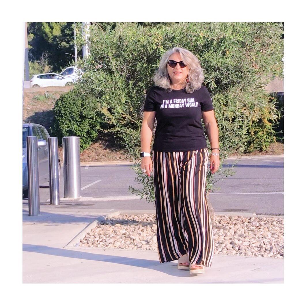 Idée look, Fashion, 50 ans, quinqua, mode, tendances, Rayure, rayée, Kyriad, timone, chave, Marseille