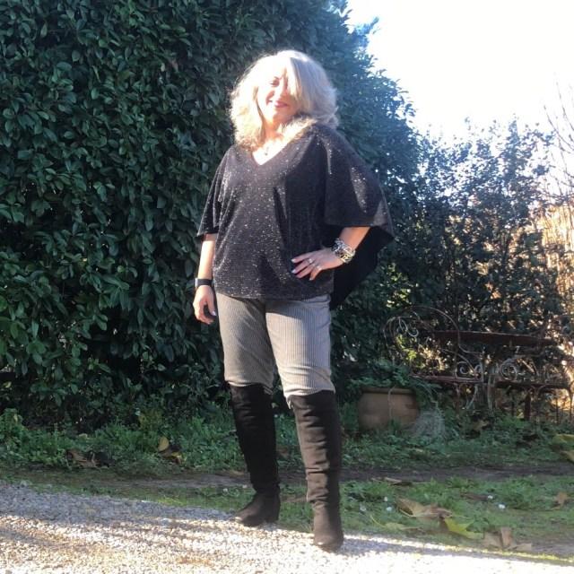 Idée look, Fashion, 50 ans, quinqua, mode, tendances, Teambeautesmajuscules, look, noël, noël au balcon,