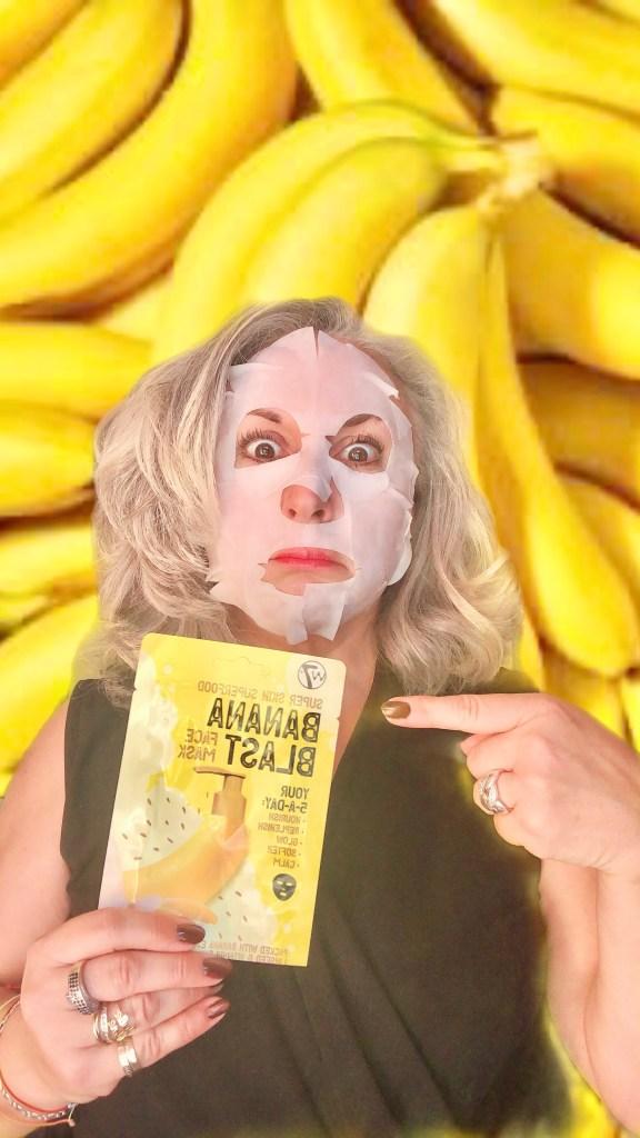 beauty, silverhair, silversisters, makeupgeek, maskchallengeunecitadine, makeup, mask, masque, w7, banane, banana