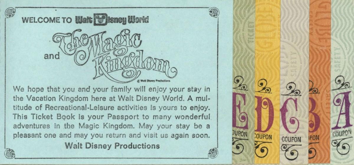 Magic Kingdom Ticket Book 1971 Tomorrowland