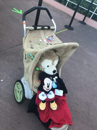 Disney pin stroller at Epcot