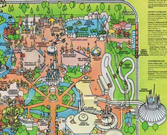 Magic Kingdom Map 1993