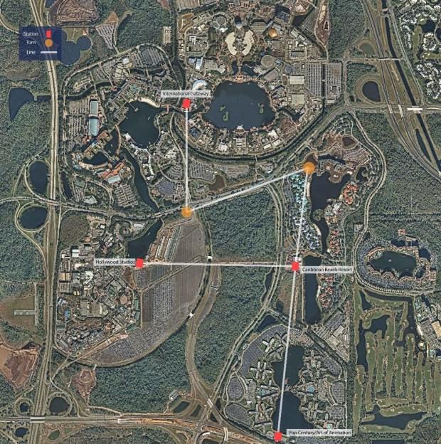 Skyliner Map Current Walt Disney World