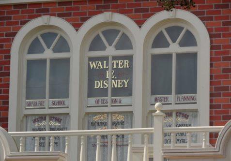 Walt Disney Window - Main Street USA Secrets