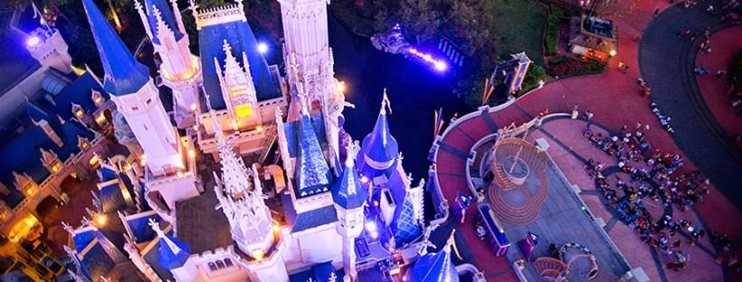 Aerial View Cinderella Castle