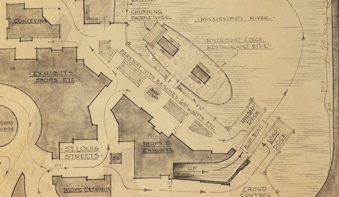 Abandoned Disney Riverfront Square Blueprints