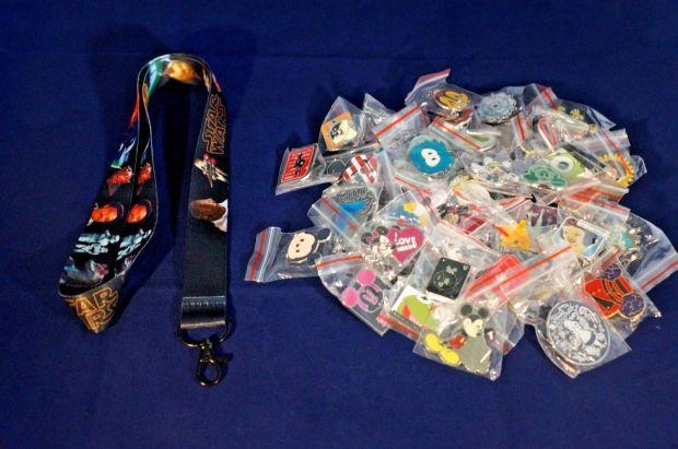 Fake Disney Pins in Bags