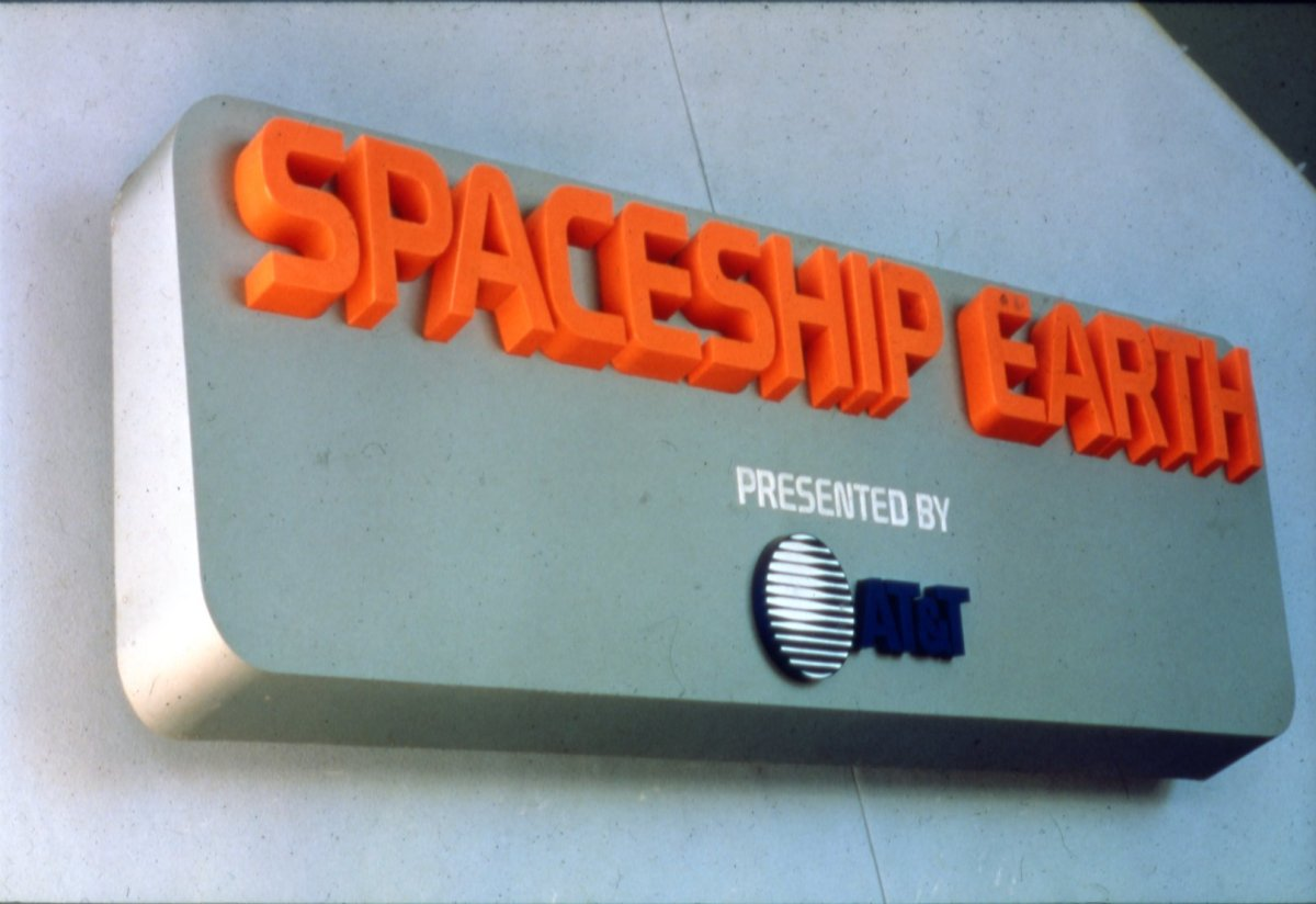 Spaceship Earth sponsored by AT&T