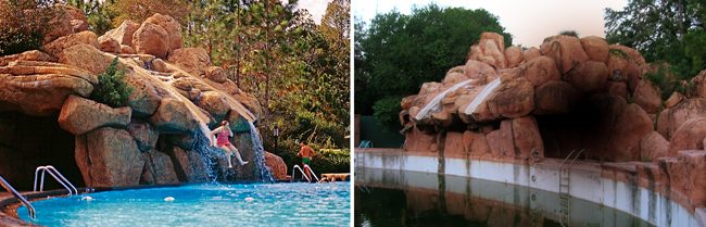 River Country Slides Before and After