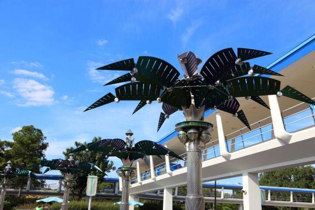 Metallic Palm Tree in Tomorrowland at Magic Kingdom