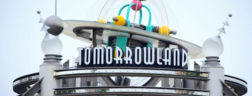 Tomorrowland Sign at Magic Kingdom