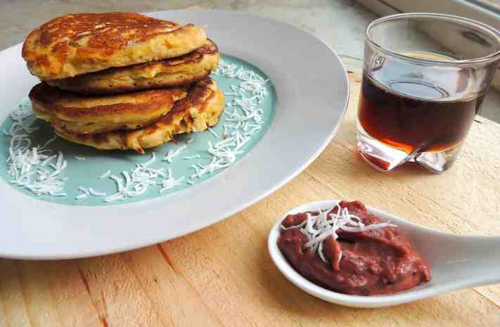 Coconut Pancakes with fig paste recipie