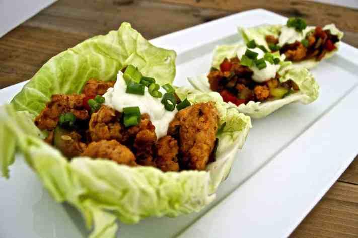 Spicy Chicken Sausage Cabbage Wraps Recipe
