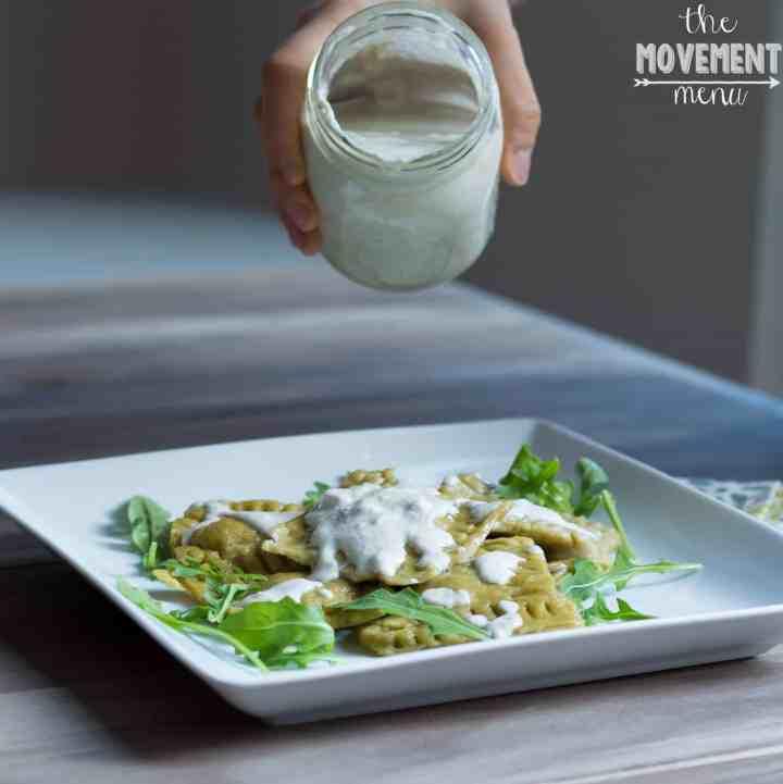 The Movement Menu - Mushroom Rosemary Infused Ravioli