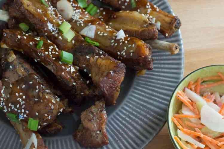 The Movement Menu - Sweet Sticky Pork Ribs & Crunchy Slaw