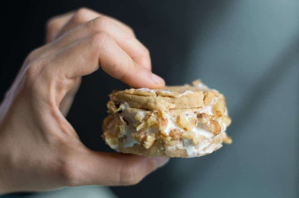 The Movement Menu - Salted Caramel Shortbread Ice Cream Sandwiches