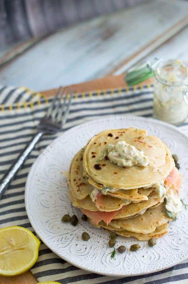 The Movement Menu - Smoked Salmon Crepes (Blini) with Dill Aioli