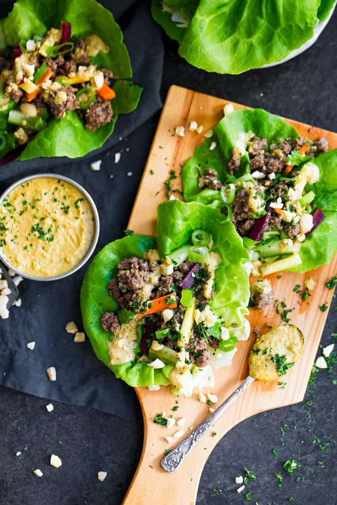 Easy Whole30 Lettuce Wraps