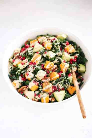 Roasted Butternut Squash Salad with Kale