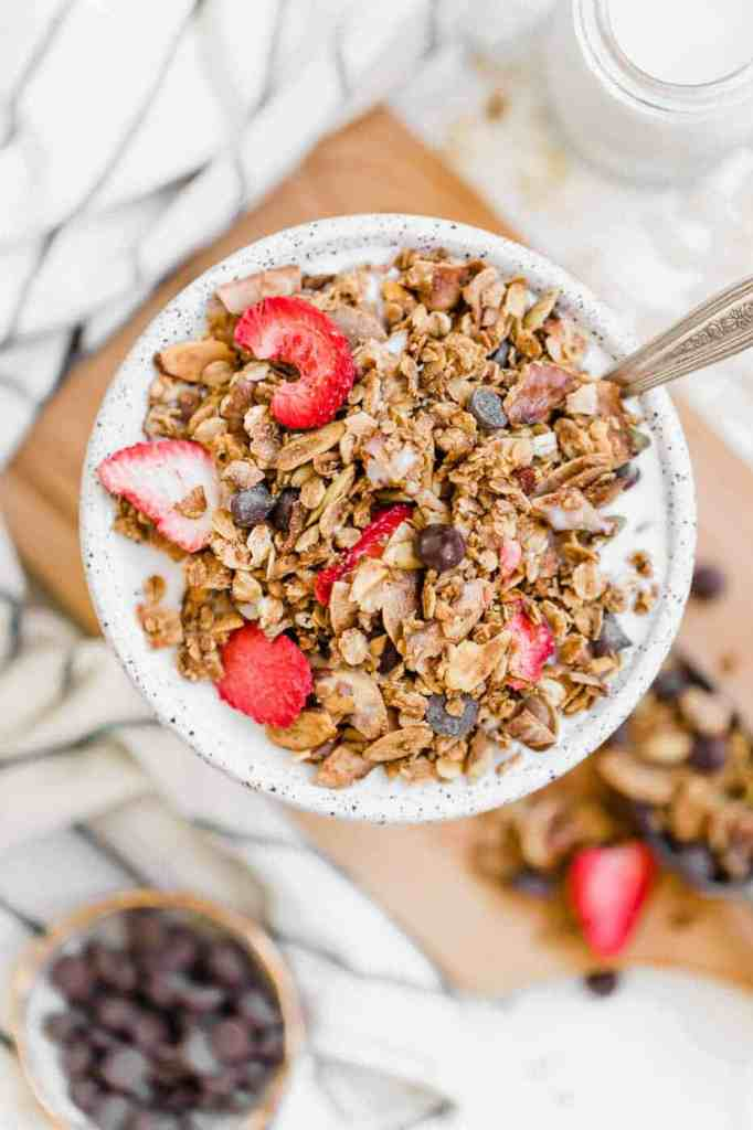 Chocolate Strawberry Vegan Granola