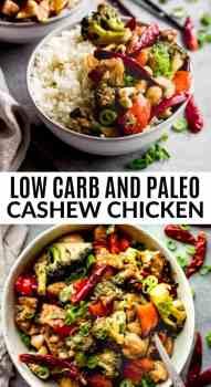 paleo cashew chicken in a bowl