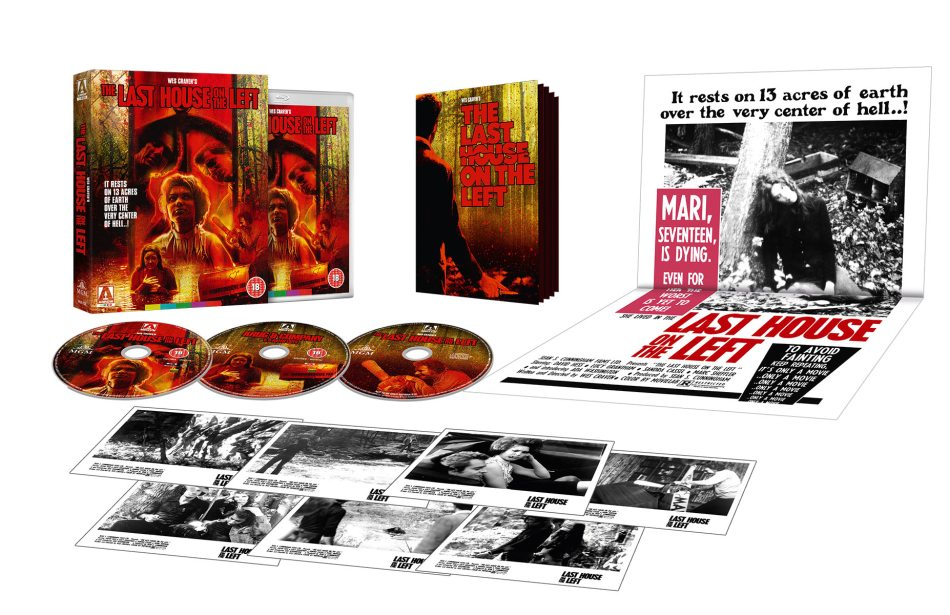 Arrow Video's The Last House on the Left Blu-Ray contents