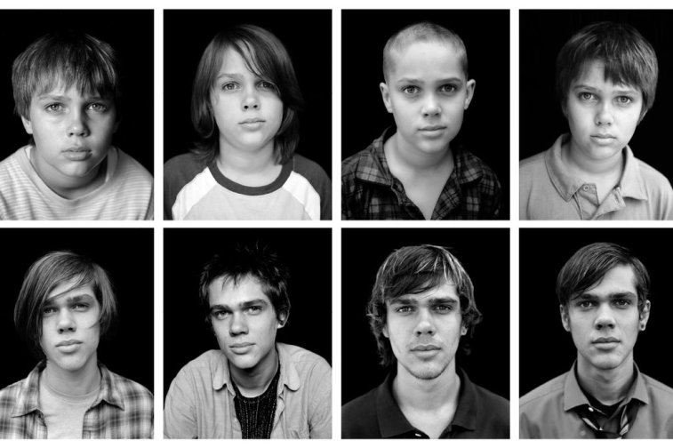 Ellar Coltrane at different ages during the making of boyhood.