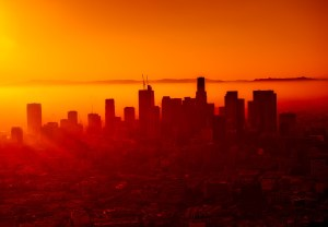 Aerial view of Los Angeles - learn how to adapt and adjust to LA climate