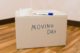 box labeled 'moving day'