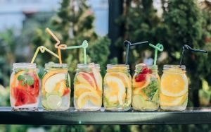 Jars of flavored water - reward your movers