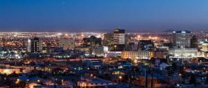 The city of El Paso at night.