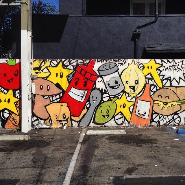Street graffiti in Venice, Los Angeles